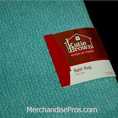 100% Cotton Highly Absorbant Reversible Bath Rug 21 X 34