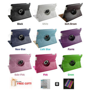 360-Rotating-Black-iPad2-iPad3-PU-Leather-Case-Smart-Cover-Stand