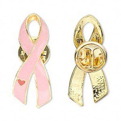 Pink Ribbon Pins Breast Cancer Awareness Lot Of 4