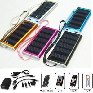 Solar energy Panel Powered charger Back Up Battery New emergency mobile power