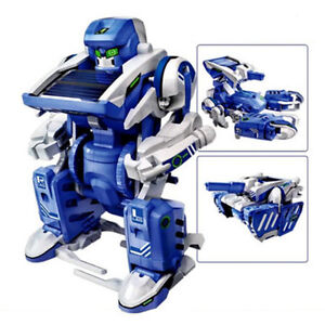 3 in 1 DIY Educational Assembly Solar Toy Robot Tank
