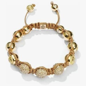Shamballa Armband m. Swarovski Elements 18 K Gold plated - TOP -