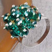 Malachite Crystal  Ring Adjustable Size---NEW!!