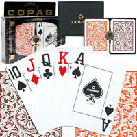Cartes Copag orange brun 100% plastique Copag orange/brown poker