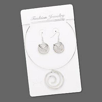 Wholesale Steampunk Choker & Earring Set Spiral Jewelry