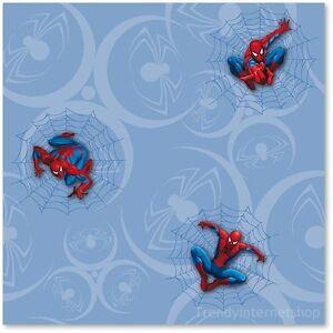 Kinder Tapete Kids@Home 00397 Spiderman Spinne Comic Marvel Peter Parker blau