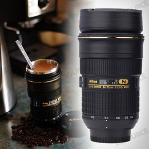 ZOOM-ABLE-Nikon-Camera-AFS-24-70mm-Lens-cup-Coffee-Mug-Stainless-Interior-DC59