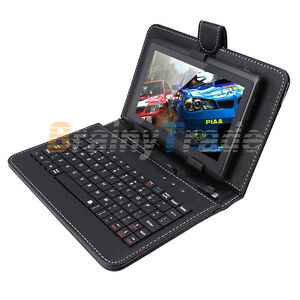 Universal-7-Black-Micro-USB-QWERT-Keyboard-Case-Stand-For-Tablet-PC-PAD-Android