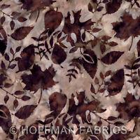 Sewing Fabric - Batik Antique Tan Fall Leaves/Hoffman California