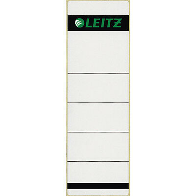 100 Leitz 1642-10-85 Ordner Rückenschild Etikett grau breit kurz NEU & OVP