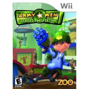 BRAND NEW - ARMY MEN SOLDIERS OF MISFORTUNE - Wii