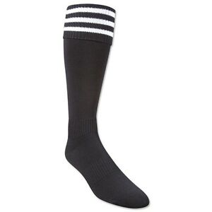 Adidas 3 Stripe Soccer Socks Black White | eBay Black Soccer Socks