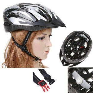 Cycling-Bicycle-Bike-Adult-Helmet-Carbon-with-Visor-Silver
