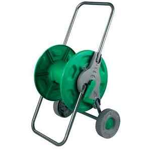 Hose Pipe Reel Holder Trolley Cart Garden Water Portable Free Standing Stand Ebay