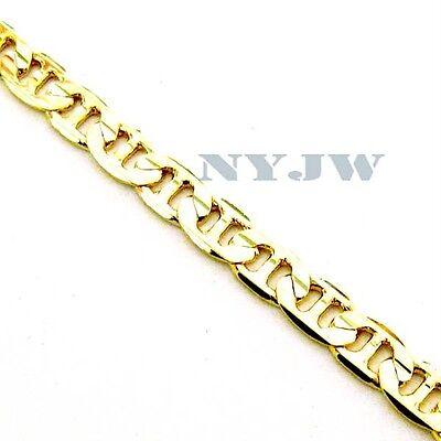 """NEW MEN'S 5mm, 8"""" 14k YELLOW GOLD PT MARINER BRACELET"""