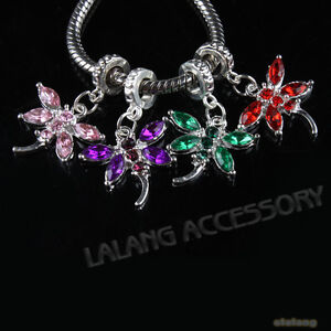 12-New-Mix-Dragonfly-Pendants-Bead-Fit-Bracelets-151209