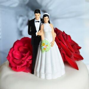 Brunette Bride Cake Topper