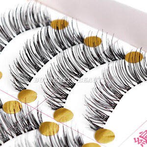 10Pairs Makeup Handmade Natural Fashion Long False Eyelashes Eye Lashes 018A