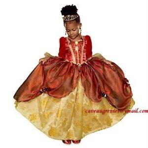 DISNEY Princess Belle Deguisement Soulier diadéme 6 7 8 C NEUF