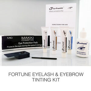 FORTUNE EYELASH & EYEBROW TINT DYE COLOUR COMPLETE KIT AVAILABLE ...