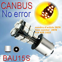 7507 PY21W BAU15s. 21 SMD Amber Yellow CANBUS OBC No Error Signa
