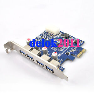 4 Port USB 3.0 HUB to PCI-E Express Card Adapter
