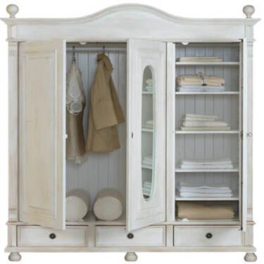 2 t riger schrank im modernen landhausstil elegant. Black Bedroom Furniture Sets. Home Design Ideas