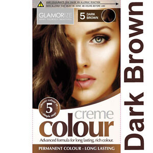 Glamorize Permanent Hair Dye Colourant Creme Colour~ Brown Black Blonde Mahogany