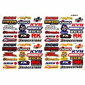 60 x Race Car_RC Car_Motorbike_Model Decals Stickers UK Seller