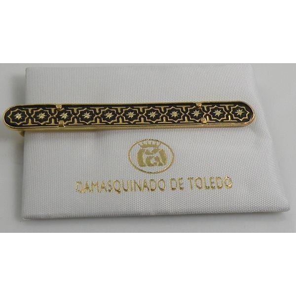 Damascene Gold Mens Tie Bar Star of Redemption by Midas of Toledo Spain 2600Star
