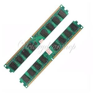 4GB 2x2GB DDR2 667Mhz PC2 5300 5300U 240 PIN DESKTOP DIMM MEMORY RAM FOR AMD CPU