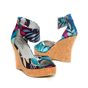 womens shoes turquoise blue platform wedge high heel