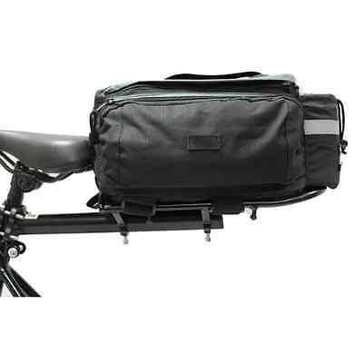 PEDALPRO BICYCLE/BIKE ALUMINIUM REAR RACK WITH BLACK PANNIER BAG - SEAT MOUNTED