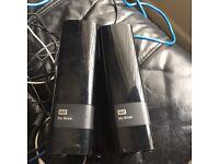 WD 2x 2tb hard drives