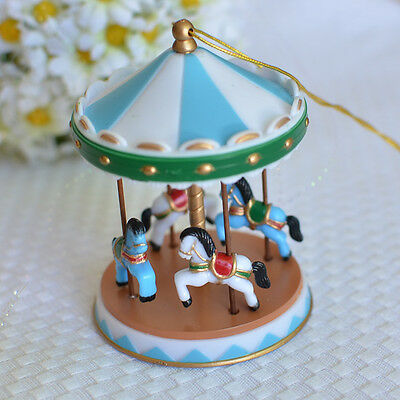 Circus Cakes (Blue Circus Carousel Cake Topper for Baby Showers, Birthdays Vintage)
