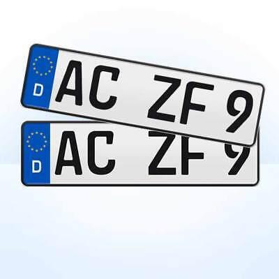 2 Stück EU Kfz-Kennzeichen + 410 x 110 mm + Nummernschilder