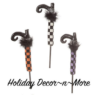 Halloween Witch Boot Pick Floral Spray Craft Decor Wreath Arrangement