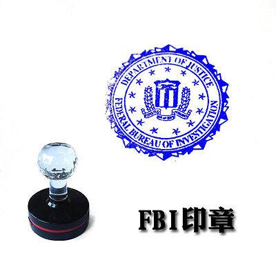 US FBI Department OF Justice Badge Stamp Photosensitive Seal
