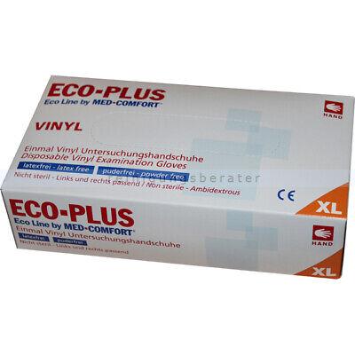 Einmalhandschuhe aus Vinyl Ampri Eco-Plus weiß XL Einweghandschuhe