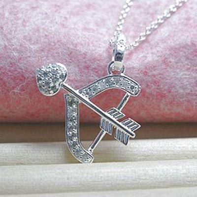 Damen Halskette mit Anhänger Schütze 925 Sterling Silber plattiert Sternzeichen