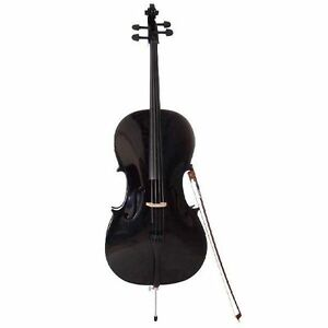 Brand New! Black Cello 4/4 Size
