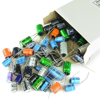 150 Pieces Capacitor Assortment Grab Bag Of Various Brands Values And Sizes