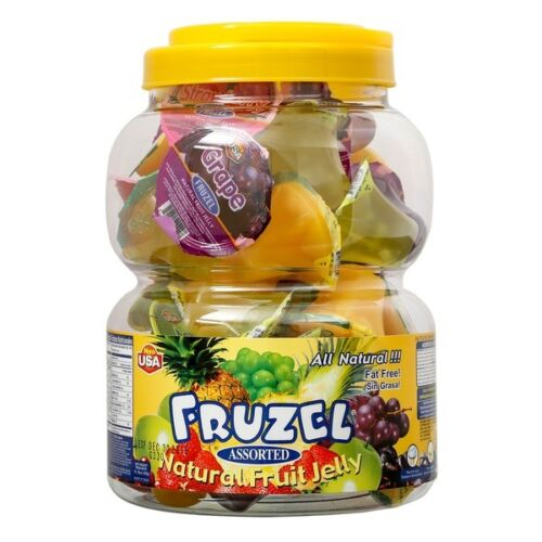 Fruzel Assorted Natural Fruit Juice Jelly Cups 38 CT Fat Free 51.15 OZ