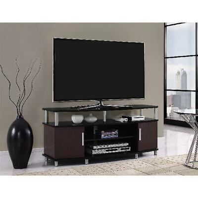 Center Media TV Stand Cabinet Console Table Storage Modern Entertainment (Modern Flat)