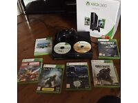 Xbox 360 with games 9 games