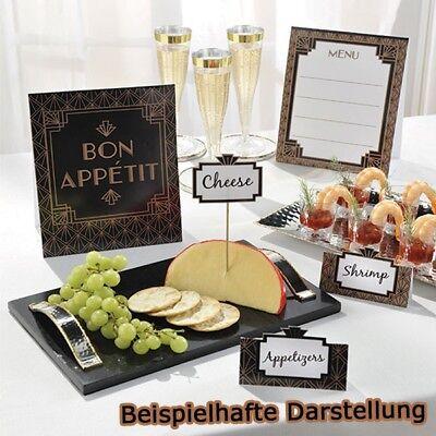 Tisch-dekorationen Für Partys (Deko-Set Buffet, gold/schwarz,12-teilige Tischdekoration für die Hollywood Party)