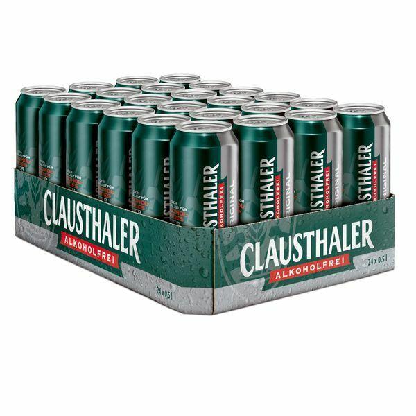 Clausthaler Original 48 x 0,5 liter Dosen Alkoholfrei Bier 24 liter Beer Cerveza