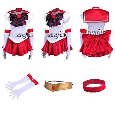 New Sailor Moon SM Rei Hino / Sailor Mars Dress Cosplay Costume & petticoat