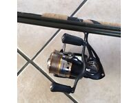 Shimano purist 15ft longtrotter, and team daiwa tdm3012 reel, unused
