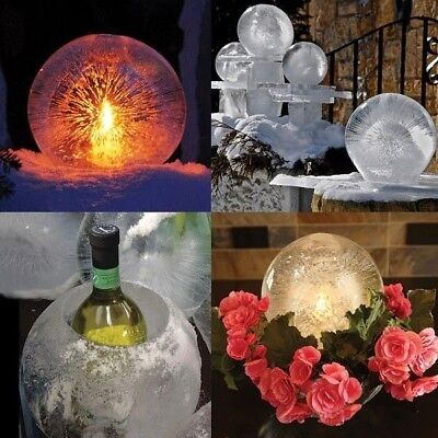 SNOW GLOBE HUGE ICE CANDLE BALL LANTERN DELUXE 6 KIT MADE IN USA INDOOR OUTDOOR for sale  Shipping to India